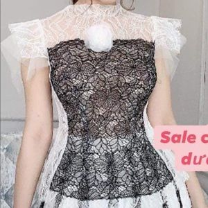 Top and skirt lace